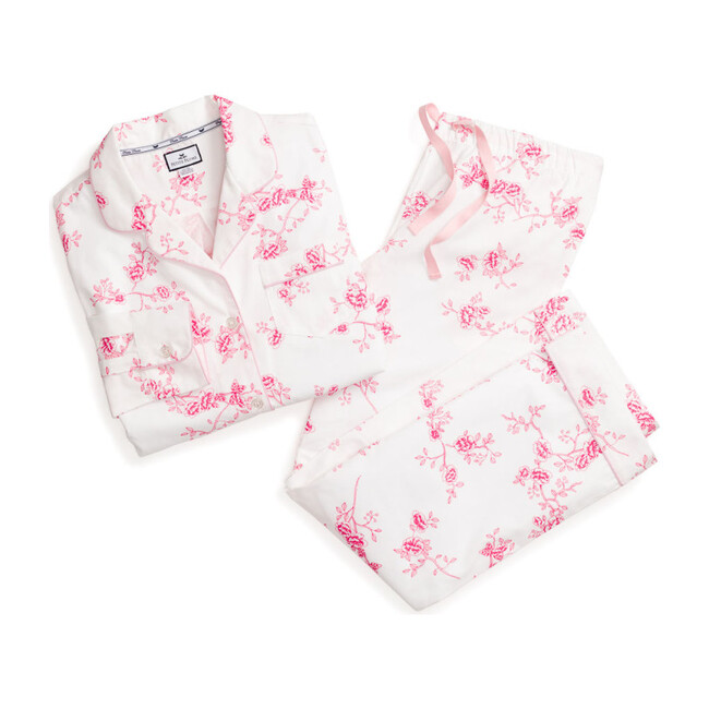 Women's Floral Pajama Set, English Rose