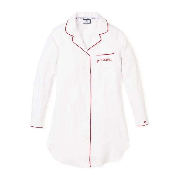 "*Exclusive* Womens ""Je t'adore"" Twill Nightshirt - Pajamas - 0 - zoom"