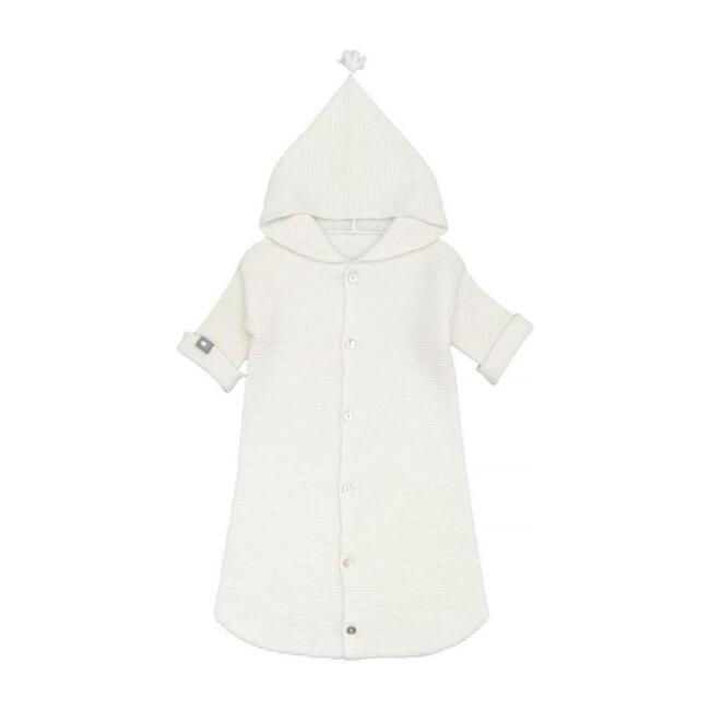 Hooded Poncho, Off-White