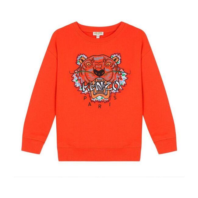 Tiger Sweatshirt, Dark Red - Sweatshirts - 1