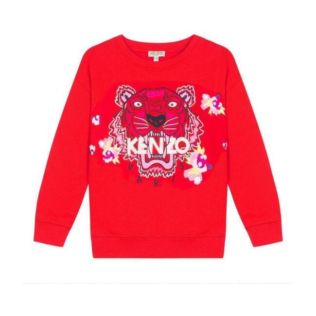 Tiger Sweatshirt, Brick Red - Sweatshirts - 1