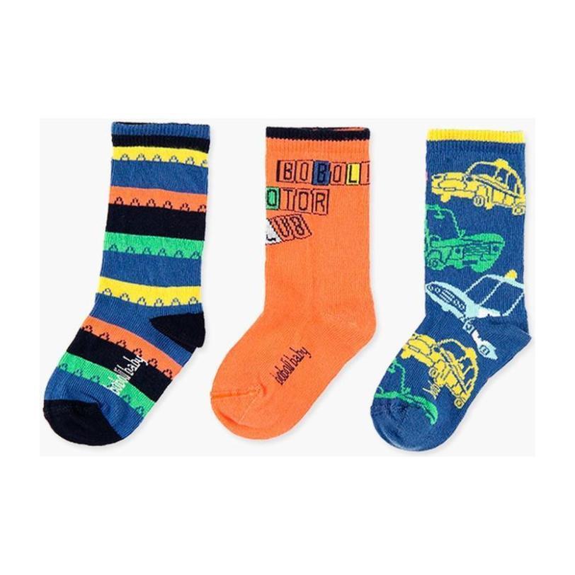3-Pack Socks Set, Tangerine & Blue