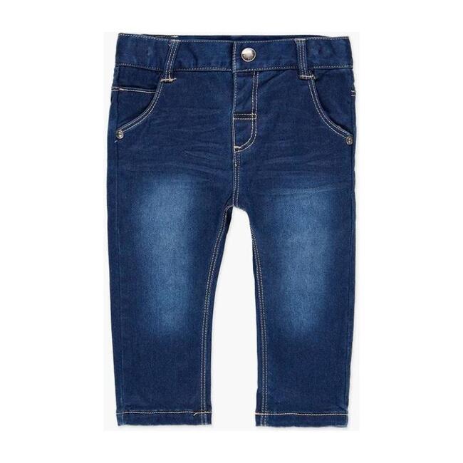 Stretch Jean Pants, Blue - Pants - 1