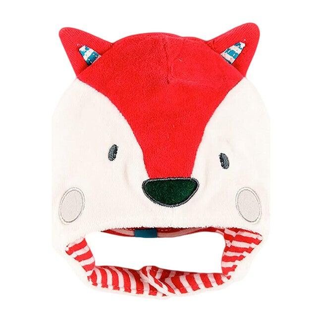 Velvet Fox Hat, White