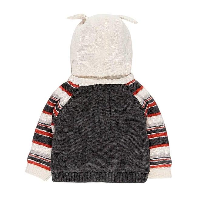 Hooded Knit Jacket, Black