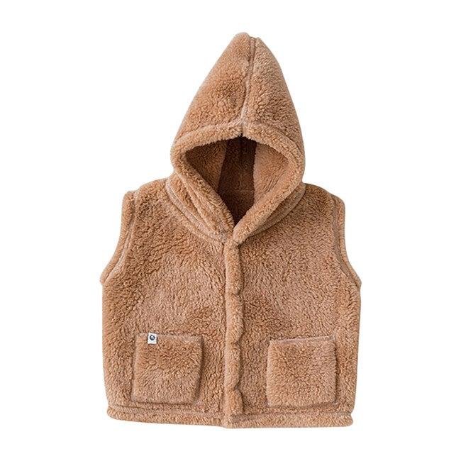 Soft Fluffy Vest, Brown