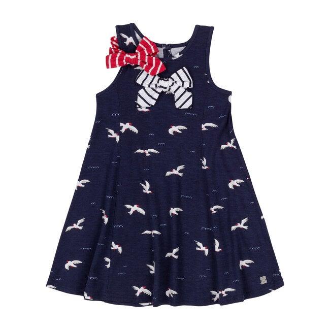 Seagulls Dress, Navy