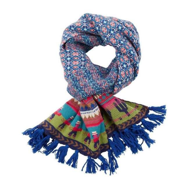 Kuquita Knitted Scarf, Blue