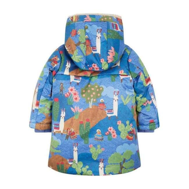 Lama Landscape Cobble Coat, Blue