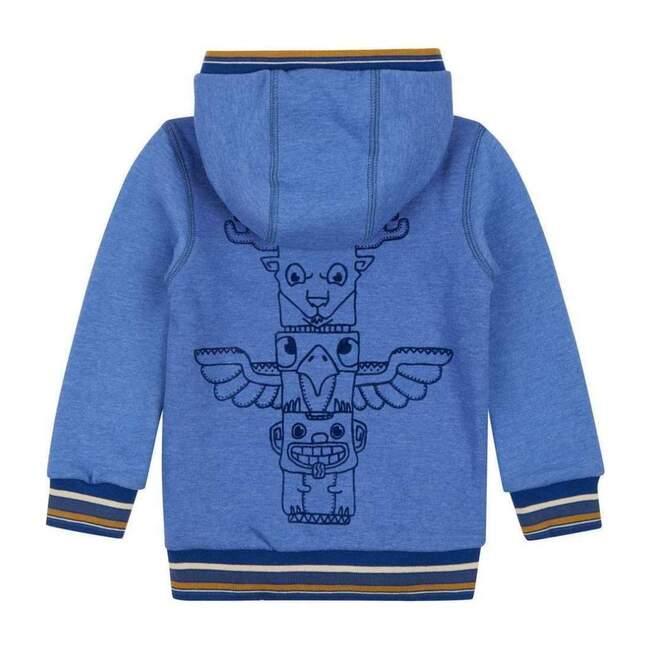 Hawk Sweat Cardigan, Blue