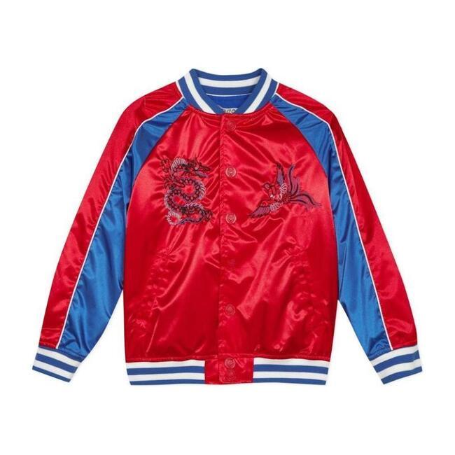 Satin Dragon Jacket, Red