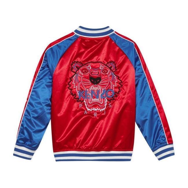 Satin Bomber Jacket, Red