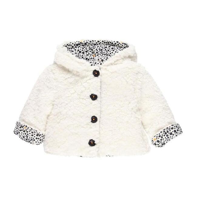 Reversible Fluffy Jacket, Cream