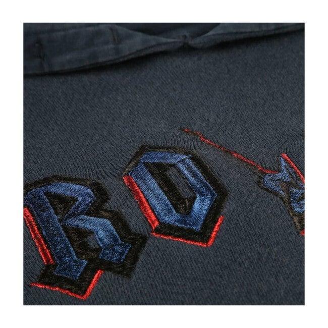 Rock Hooded Sweatshirt Dress, Navy
