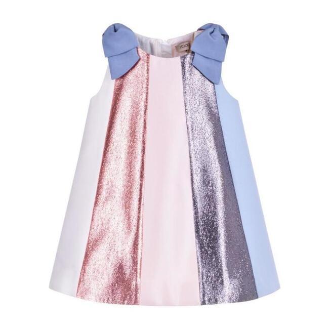 Rainbow Trapeze Dress & Bloomers, Multi