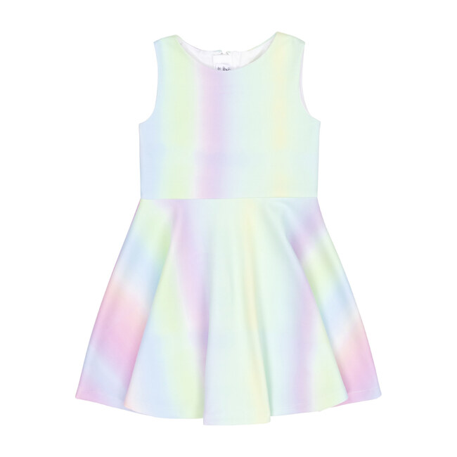 Rainbow Neoprene Dress, Multi
