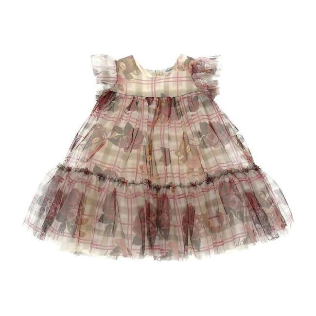 Teddy Bear Tulle Dress, Taupe