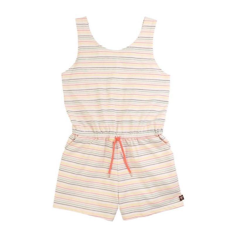 Striped Romper, Pale Pink