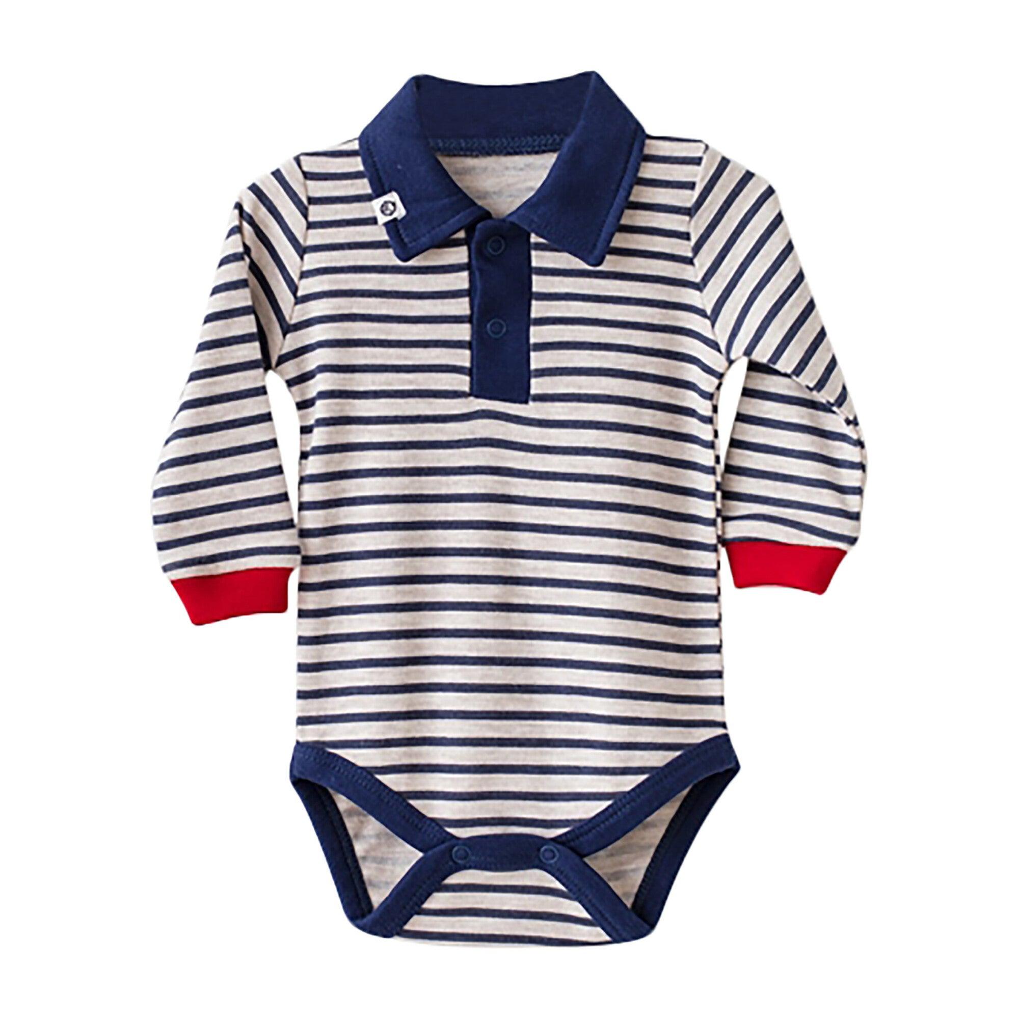 Striped Bodysuit, Navy