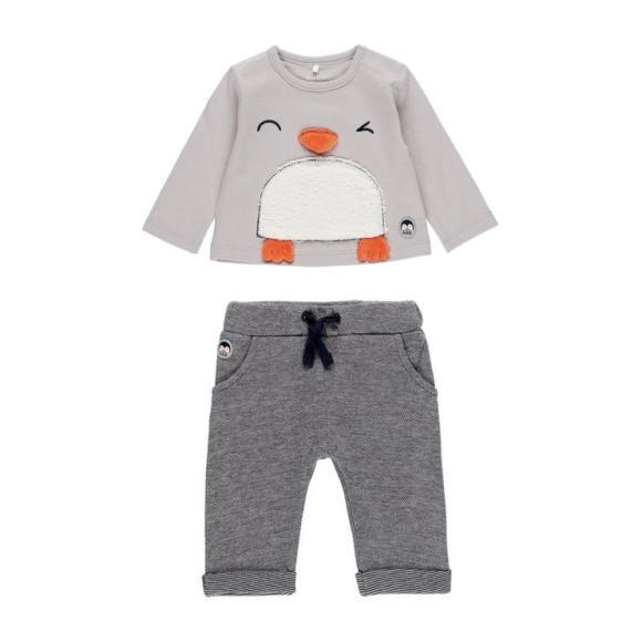 Penguin Outfit Set, Grey