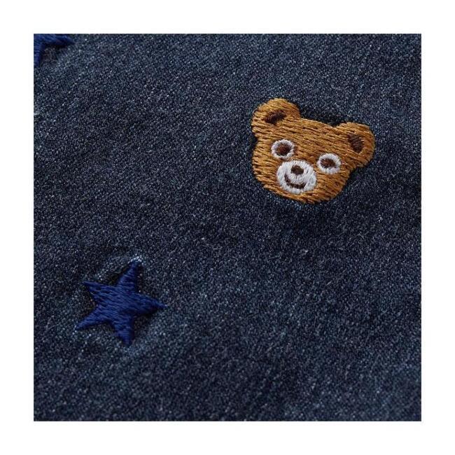 Bear and Star Print Shorts, Indigo