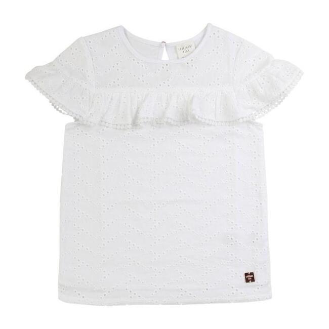 Ruffle T-Shirt, White