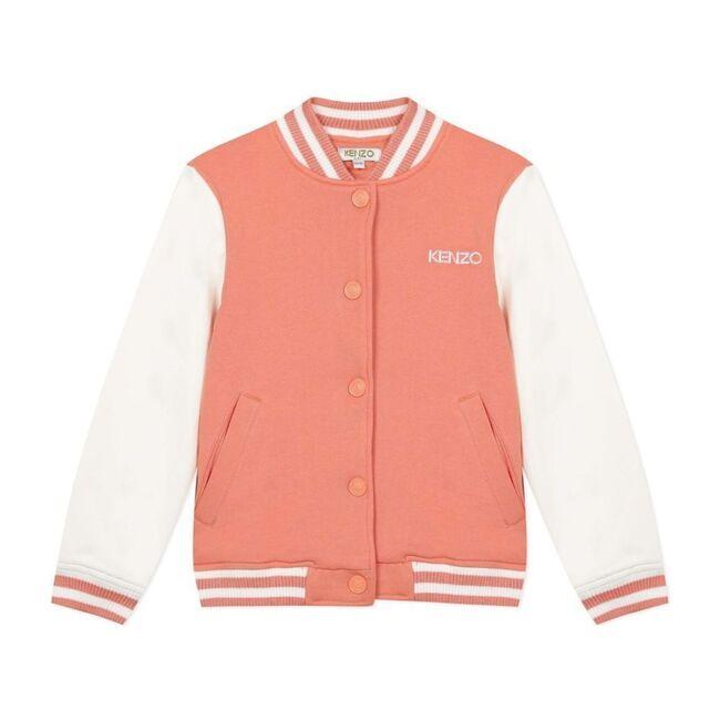 Peach Elephant Varsity Jacket, Orange