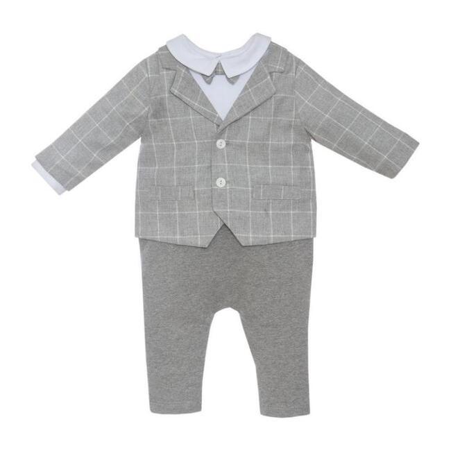 Baby Bodysuit, Grey