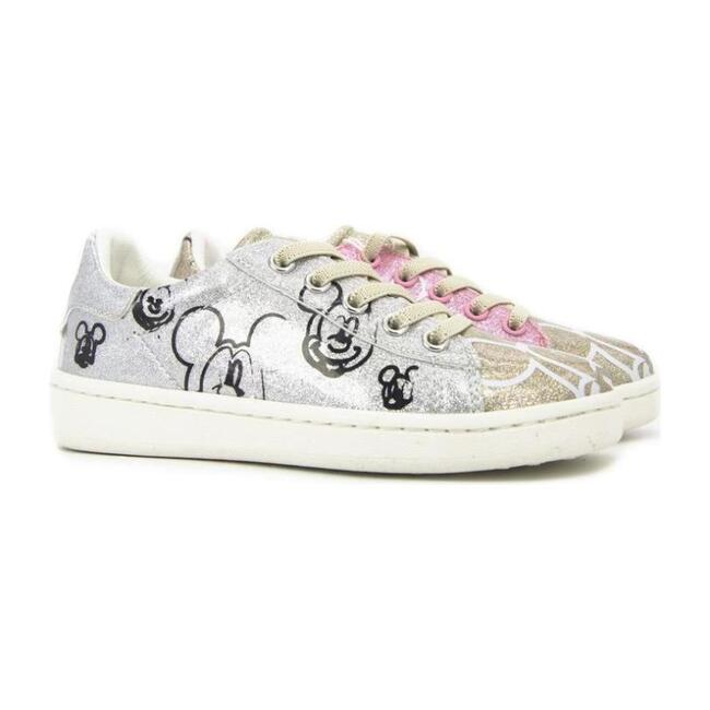 Gallery Shoes, Silver & Pink