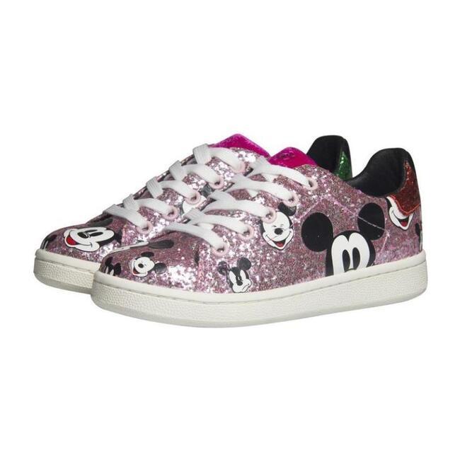 Glitter Mickey Sneakers, Pink