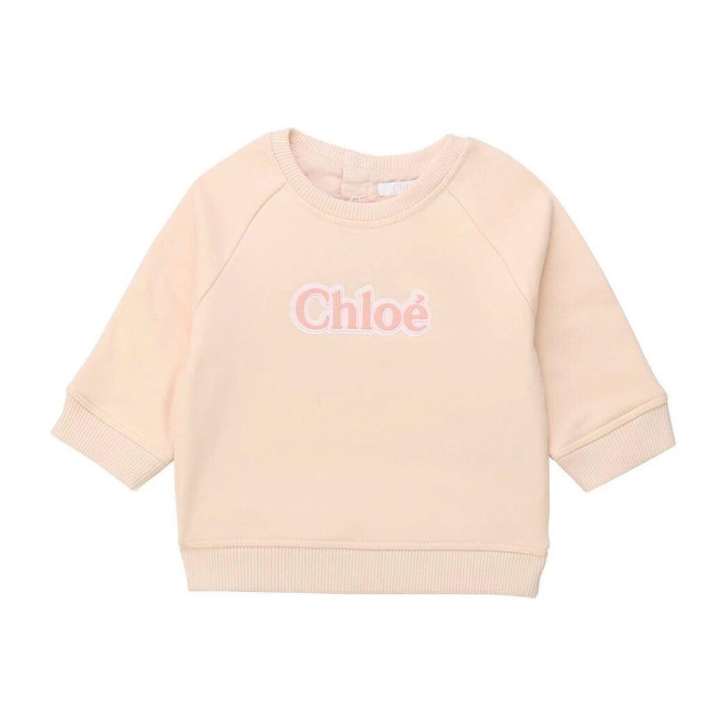 Pink Logo Sweatshirt, Pale Pink
