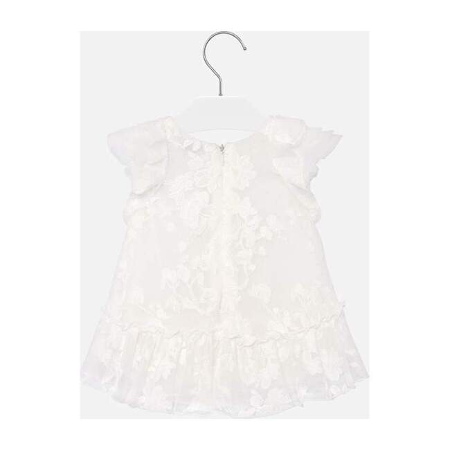 Natural Embroidered Dress, White