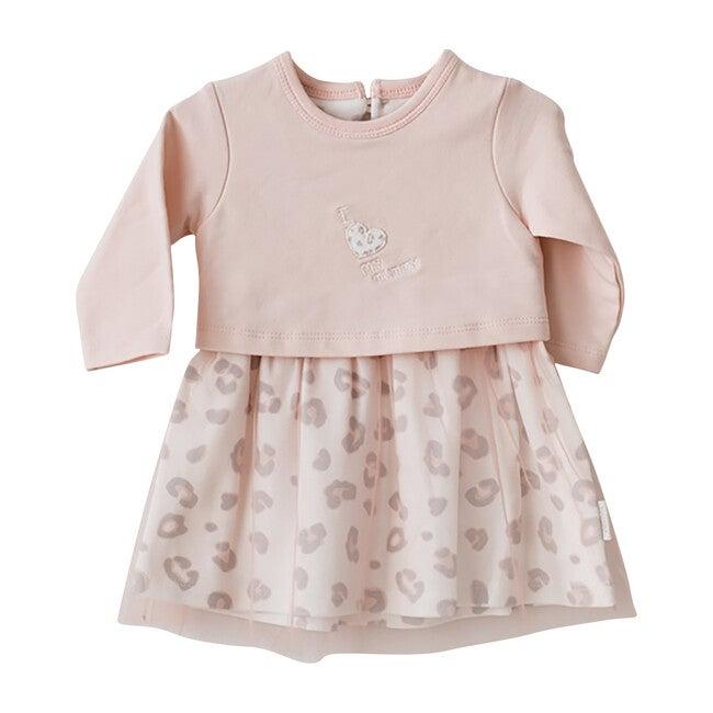 Leopard Jersey Dress, Pink