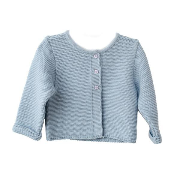 Knitted Cardigan, Pale Blue
