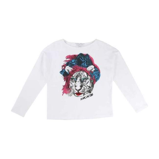 Lion Long Sleeve T-Shirt, White