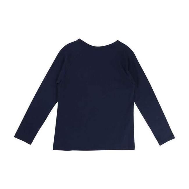 Cat Long Sleeve T-Shirt, Navy
