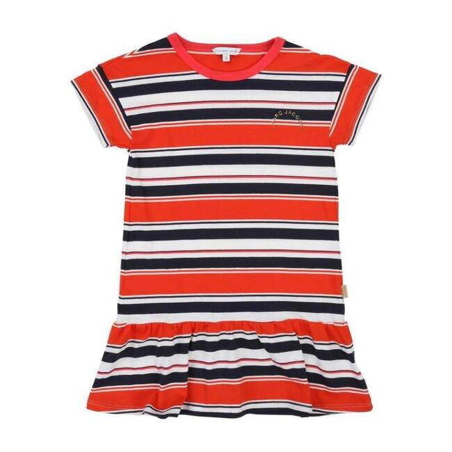 Jersey Dress, Red & Navy