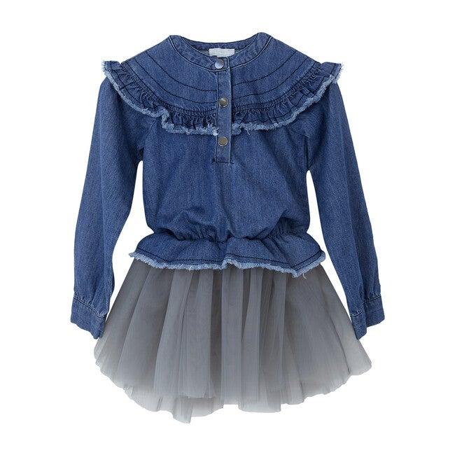 Denim Tutu Dress, Blue