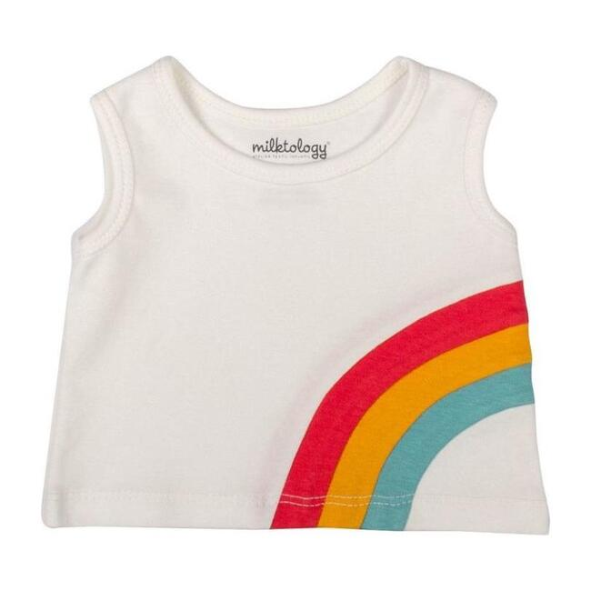 Rainbow Tank Top, Off White