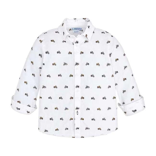 Dress Shirt, White - Shirts - 1