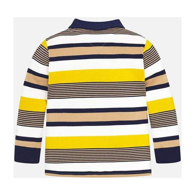 Gold Stripes Polo Shirt, Multi