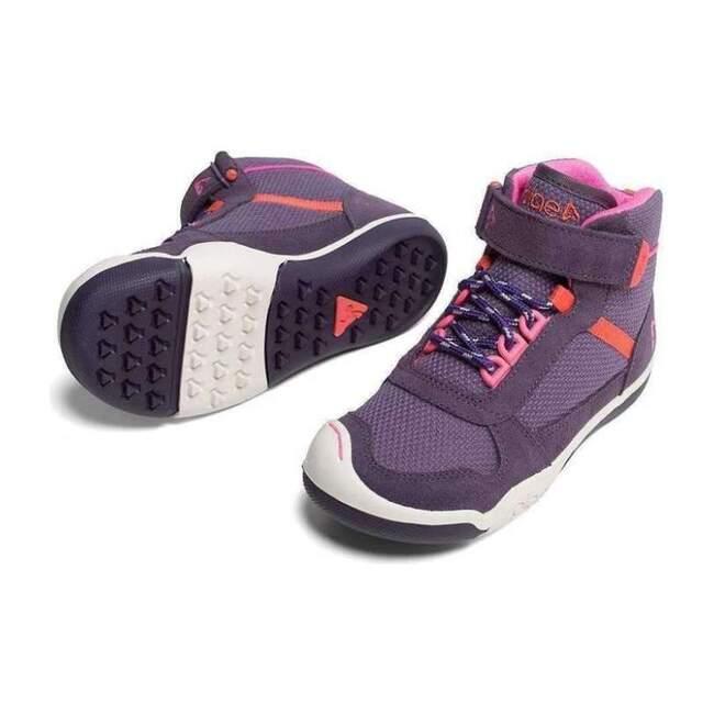 Kaiden Plum High Top Sneakers, Purple