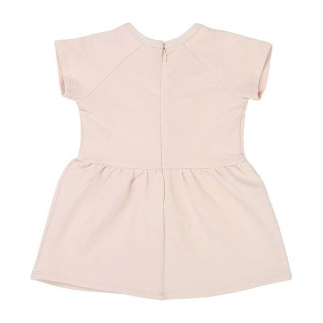 Lace Trim Dress, Pink