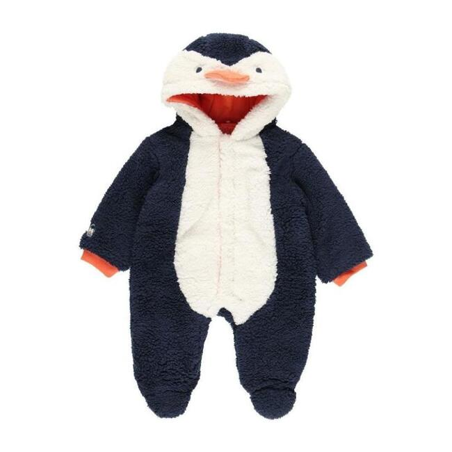 Hooded Penguin Playsuit, Navy
