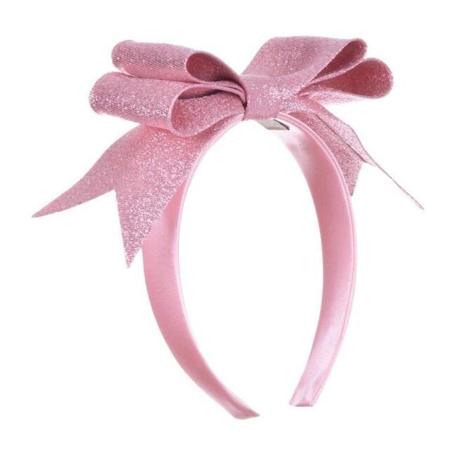 Glitter Double Bow Headband, Pink