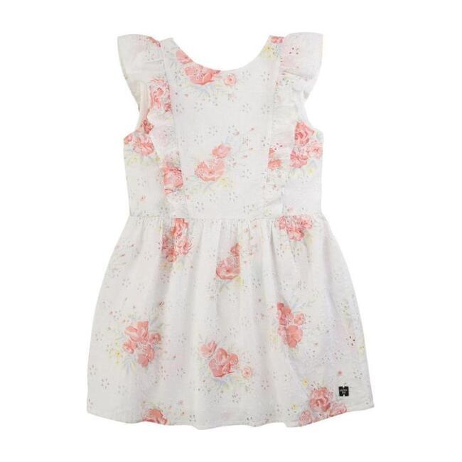 Floral Ceremony Dress, White