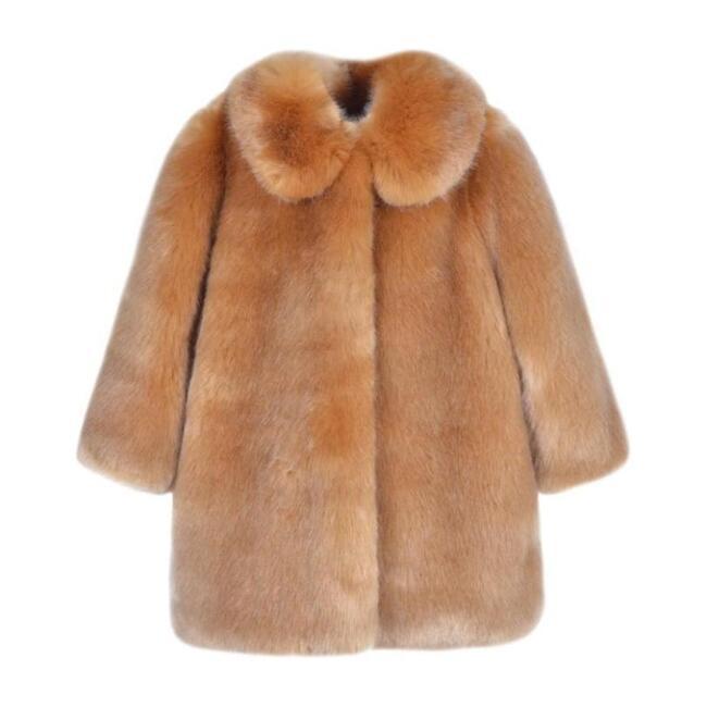 Faux Fur Coat, Brown