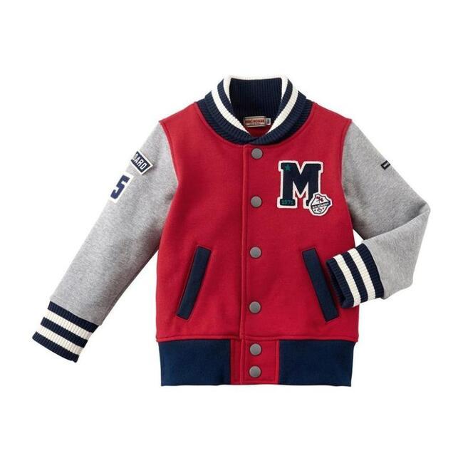 Miki House Classic Stadium Jacket, Red