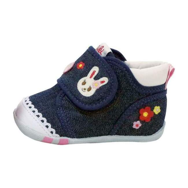 Miki House Navy First Shoes