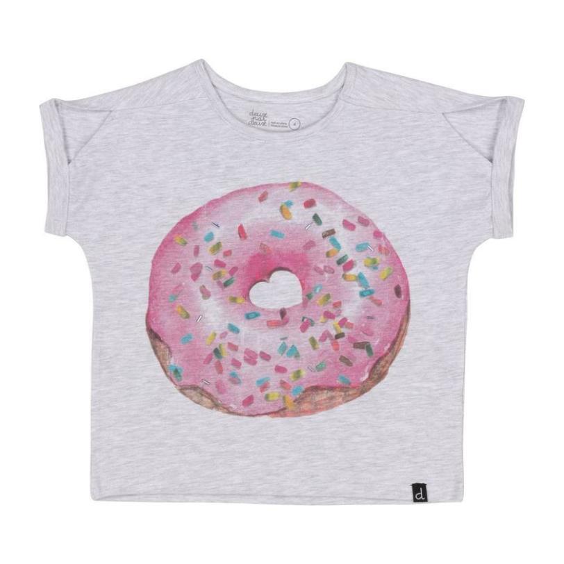 Donut T-Shirt, Light Gray